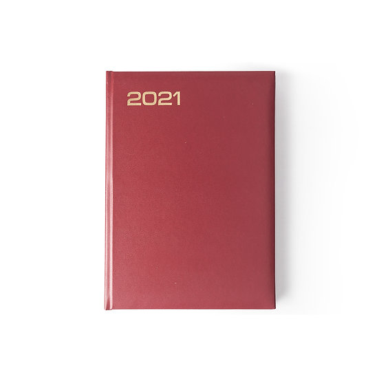A5 Size - One Day to a Page New Year Diary- Month Index Saturday/Sunday Separate