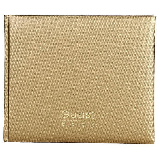 Mahavir Guest Book - Hard Bound - Medium Size (18cm x 22cm)- Gold