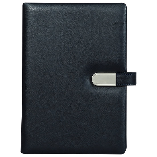 A5 Size Flash Note Book with Magnet Flap (with 16GB Pen Drive)- Blue