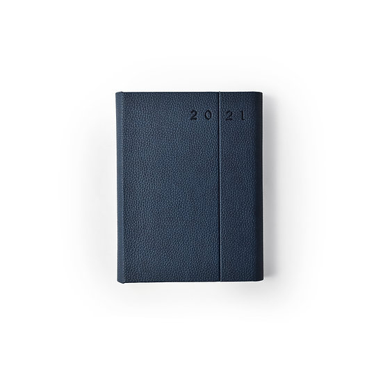 A5 Size - One Day to a Page New Year Power Diary- Blue