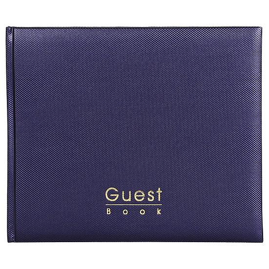 Mahavir Guest Book - Hard Bound - Medium Size (18cm x 22cm)- Navy Blue