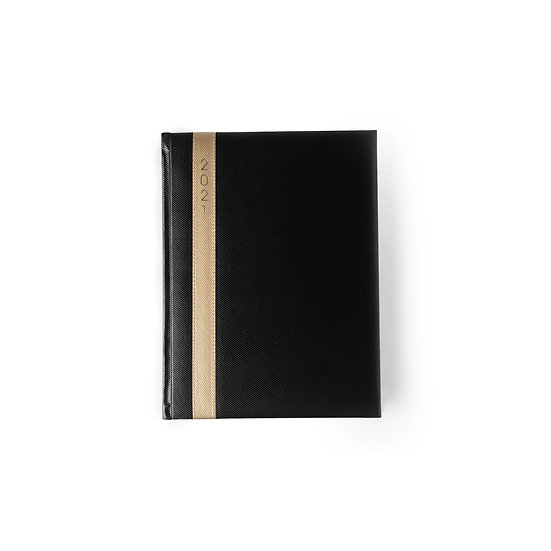 B5 Size One Day to a Page New Year Diary - Saturday/Sunday Separate- Black