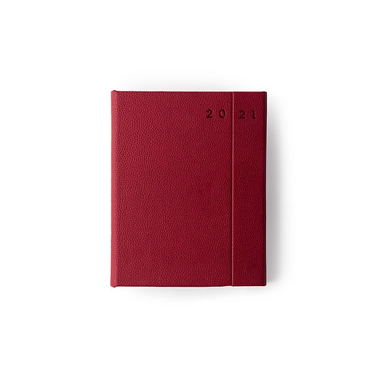 B5 Size - One Day to a Page New Year Power Diary- Red