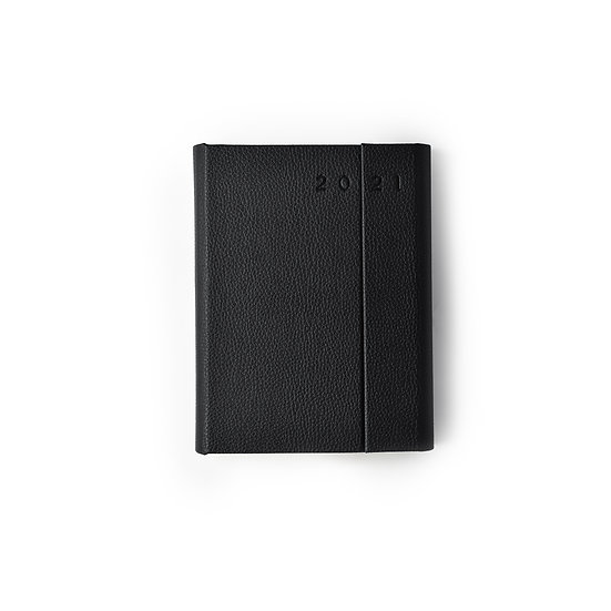 A5 Size - One Day to a Page New Year Power Diary- Black