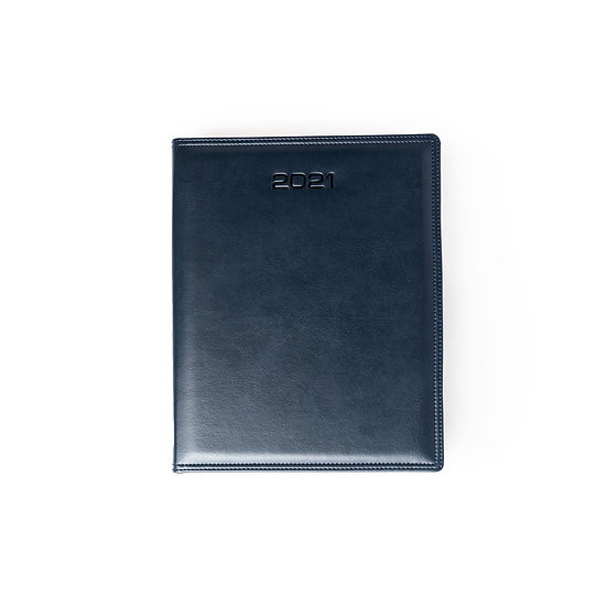 A4 Size - Week At A Glance New Year Premium Diary- Blue