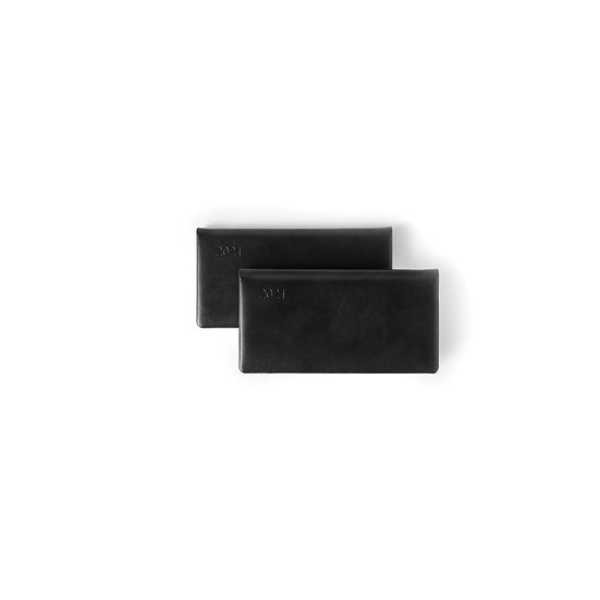 Slim Line (Horizontal) Diary- Premium - Week- at-a-glance- (Black + Black)
