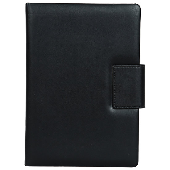 A5 Size Note Book With Magnetic Flap- Black