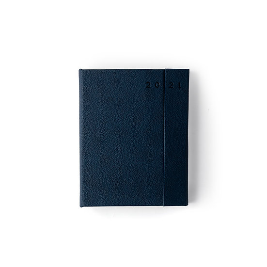 B5 Size - One Day to a Page New Year Power Diary- Blue