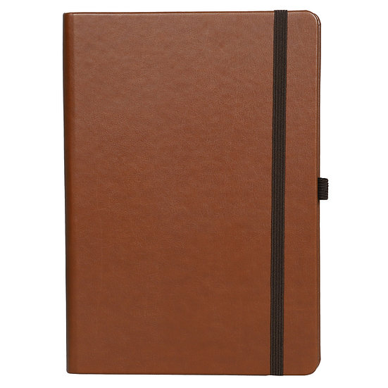 A5 Size Personal Notes with Elastic- Tan