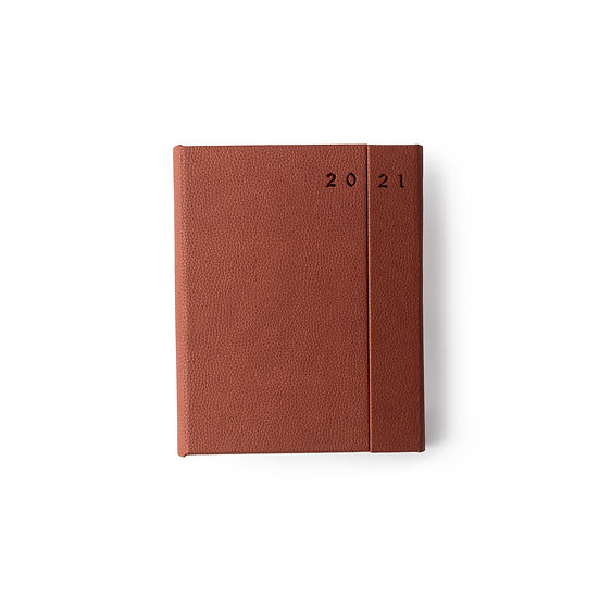 B5 Size - One Day to a Page New Year Power Diary- Tan