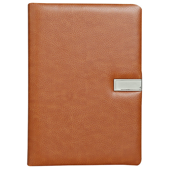 A5 Size Flash Note Book (with 16GB Pen Drive)- Tan
