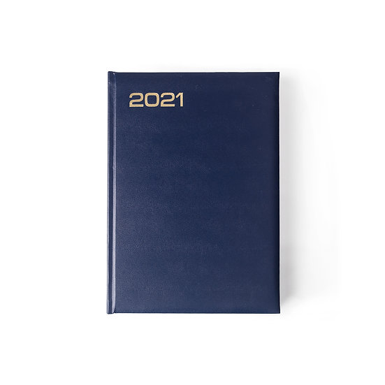 A5 Size - One Day to a Page New Year Diary -Month Index Saturday/Sunday Separate