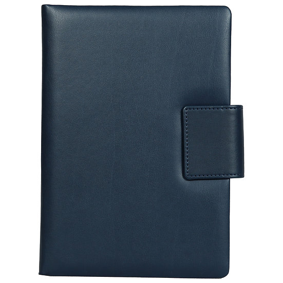 A5 Size Note Book With Magnetic Flap- Blue