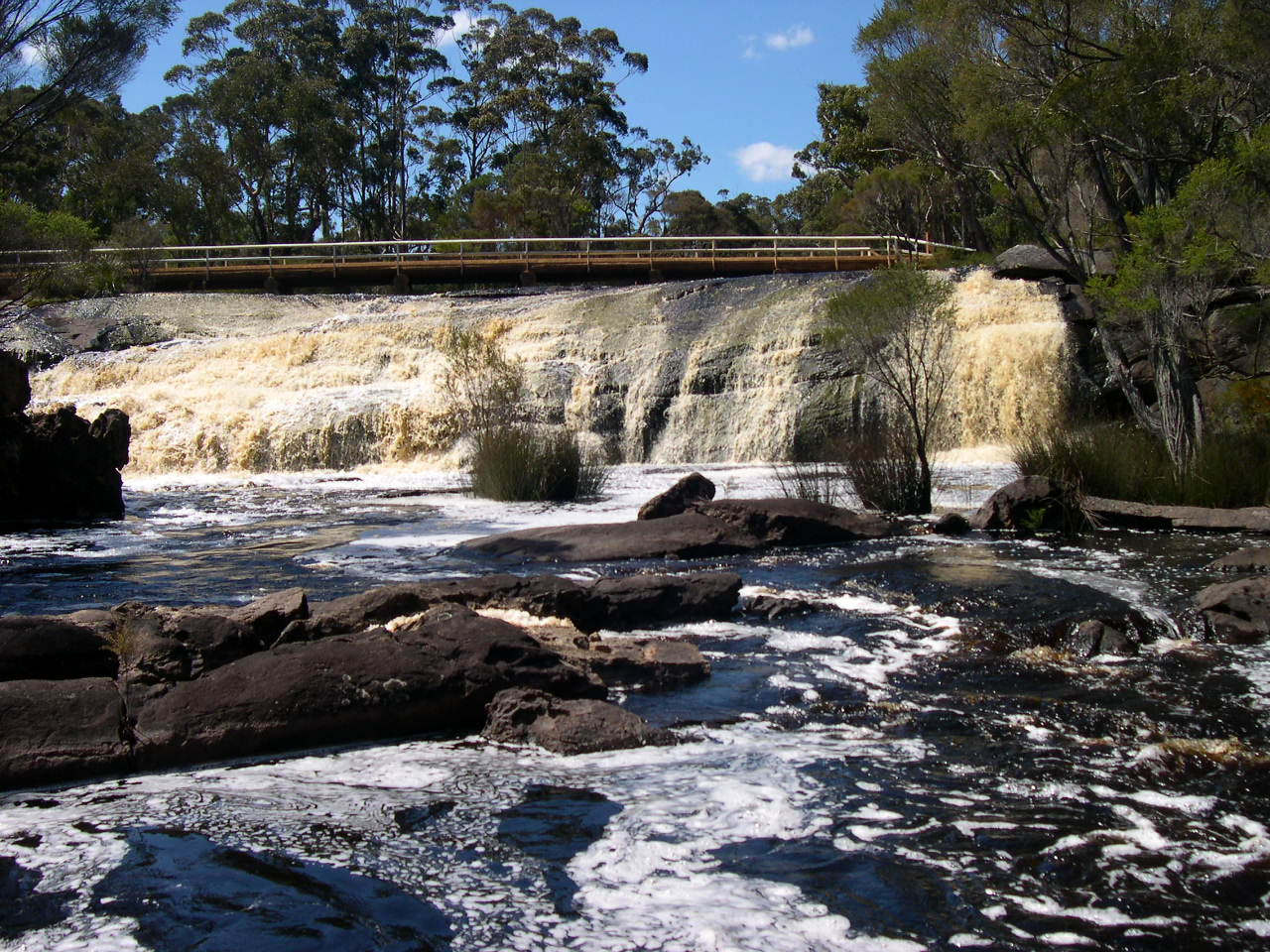 Fernhook Falls in Winter