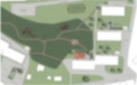 Parken mellan fastigheterna på Trastvägen, Nya Vägen och Toppstigen
