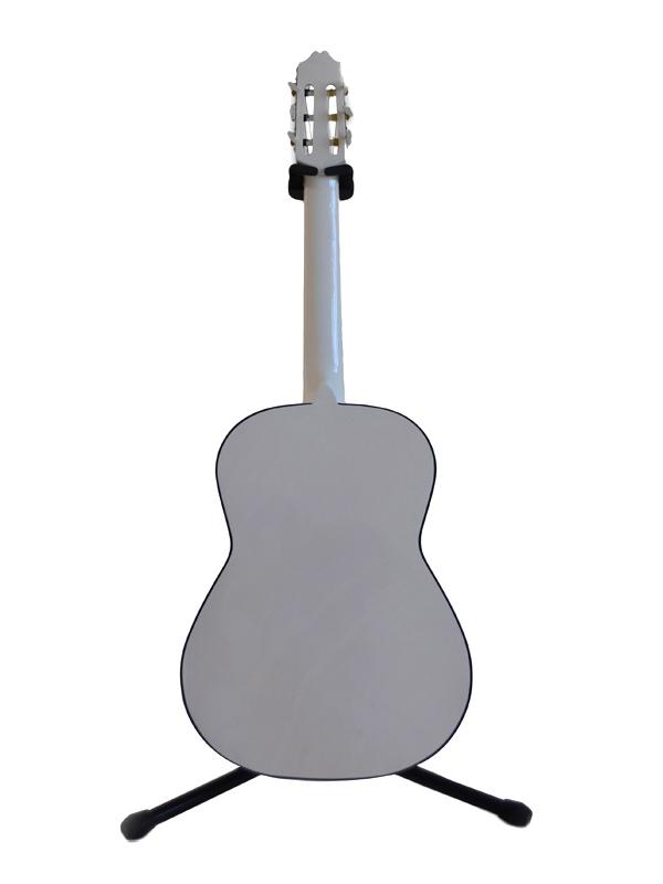 Guitarra Clásica Blanca Fondo