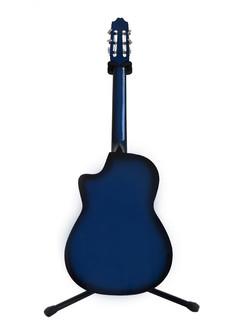 Guitarra curva azul sombra