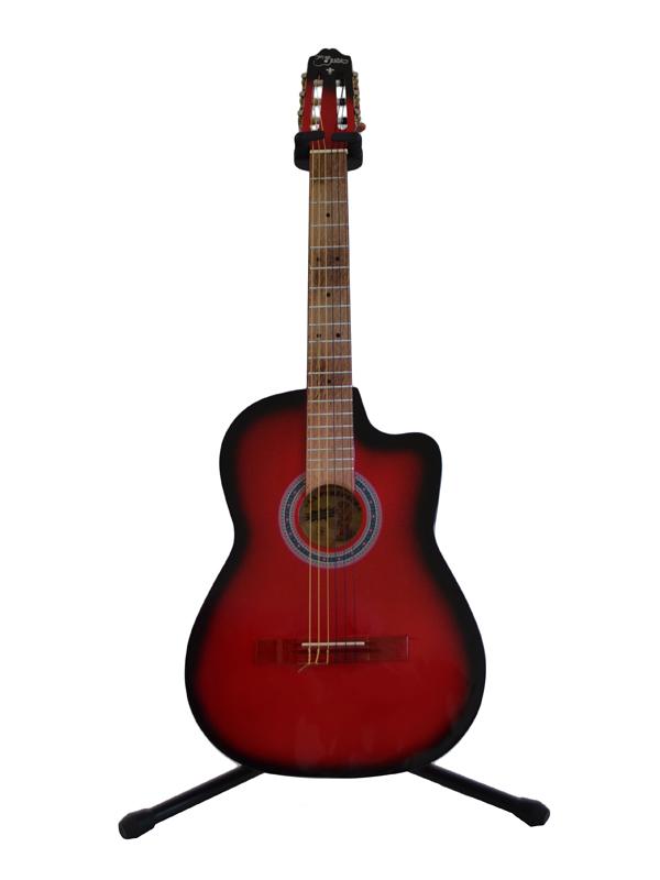 Guitarra curva rojo sombra