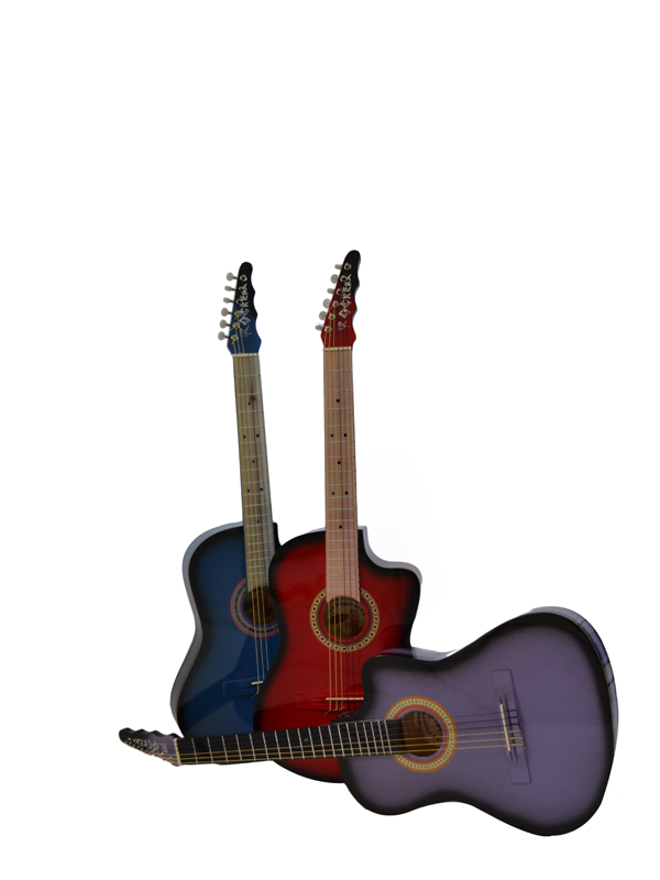 Guitarras rockeras sombreadas