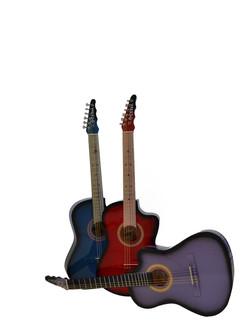 Guitarras rockeras sombreadas