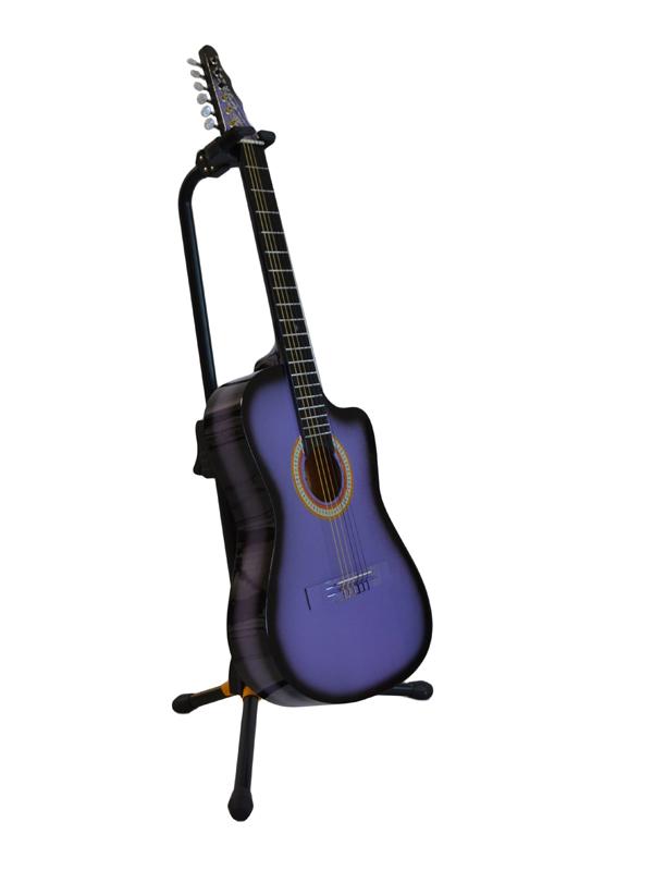 Guitarra Rockera Morado Sombra