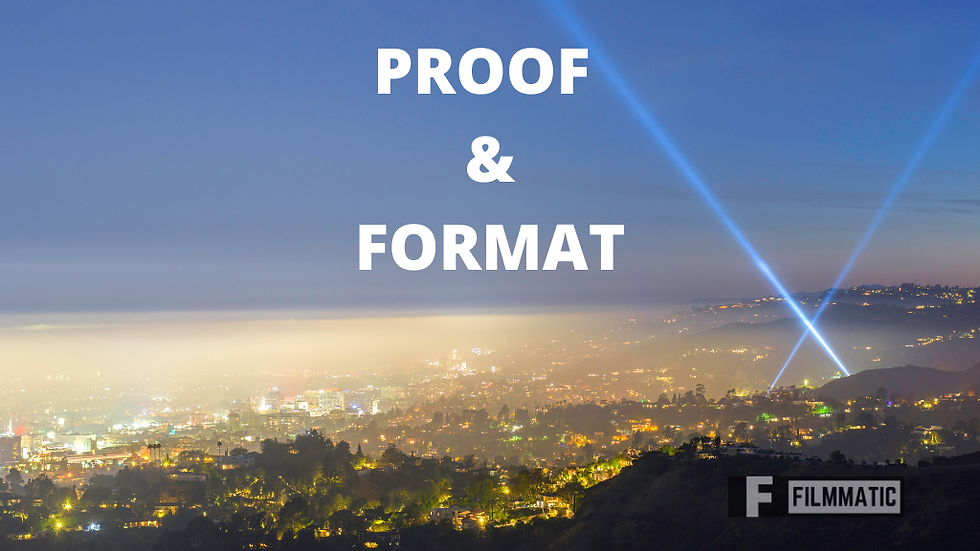 PROOFREADING & FORMATTING