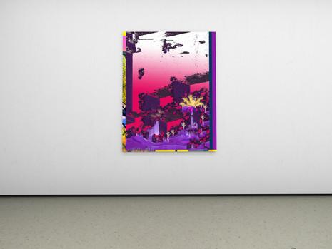 Raphael Brunk I #985c88 I 2020 I 180 x 140cm I UV-Print on Alucore