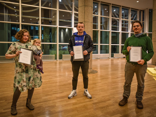 "prizewinners of the exhibition ""IdentitY"": RaphaeL BRUNK, Olga Grigorjewa, Paul Schuseil"