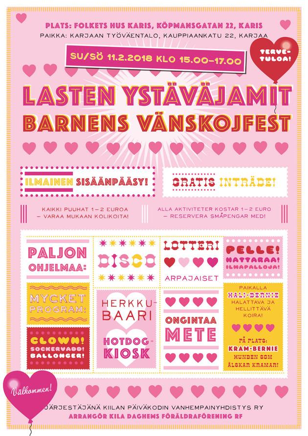 Lasten ystäväjamit / Barnens vänskojfest
