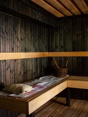 Hiljattain remontoitu sauna