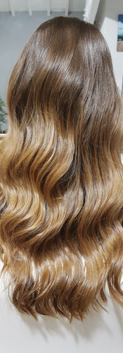 Balayage with Hollywood Waves