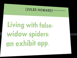 Living with false-widow spiders - our latest app is now live