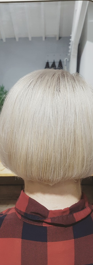 All-over Blonde with Ash Toner & Restyle