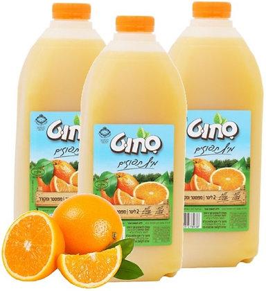 שלישיית 2 ליטר תפוזים פרימיום - 100% פרי ללא תוספות