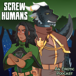 Episode Podcast Art with the Screw Human title