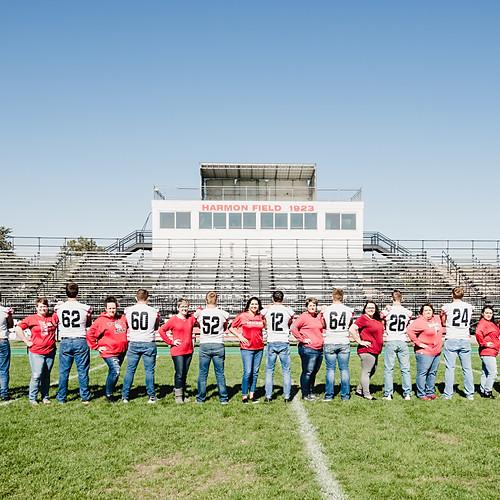 WHS Football Seniors and Moms