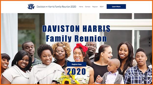 Desktop view of a sample site in USA - Daviston Harris Reunion