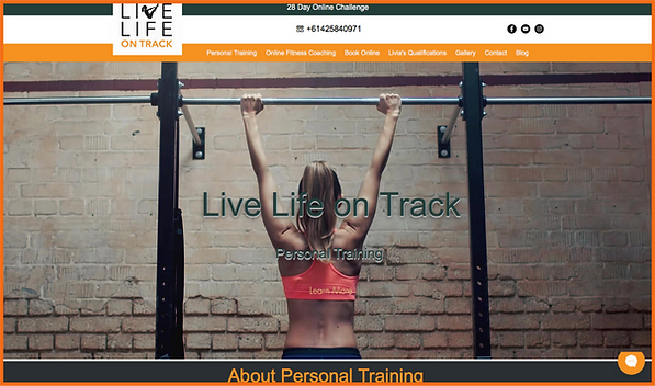 Desktop view of a sample site in Australia constructed by 16 Reasons - Live Life on Track firm