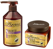 Savannah Hair Therapy Bundle-Treatment Mask 16.9 Oz+Shampoo 16.9 Oz