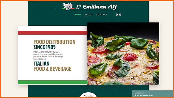 Desktop view of a sample site in Greece constructed by 16 Reasons - L' Emiliana AB