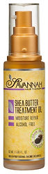 Savannah Hair Therapy Shea Butter Hair Oil for Dry Damaged Hair and Growth 1.69 oz