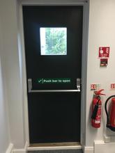 Timber Fire Exit Door