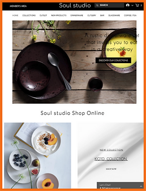 Tablet view of a sample site in Greece constructed by 16 Reasons - Soul Studio firm