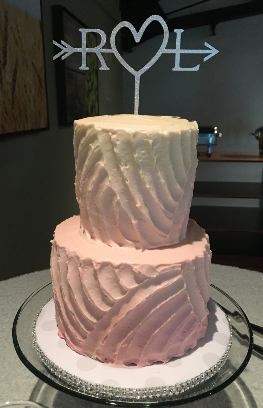 nc wedding cake champagne ombre