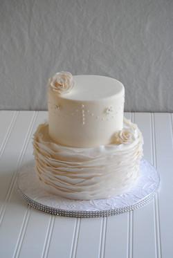 NC wedding cake fondant ruffles