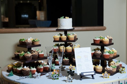nc wedding cake cupcakes butterflies