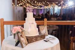 nc wedding cake ribbons lace broach