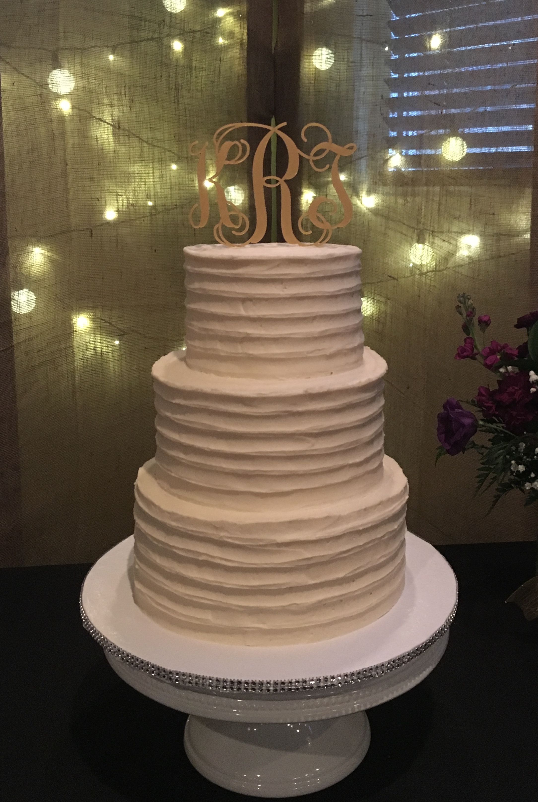 nc wedding cake texture rustic