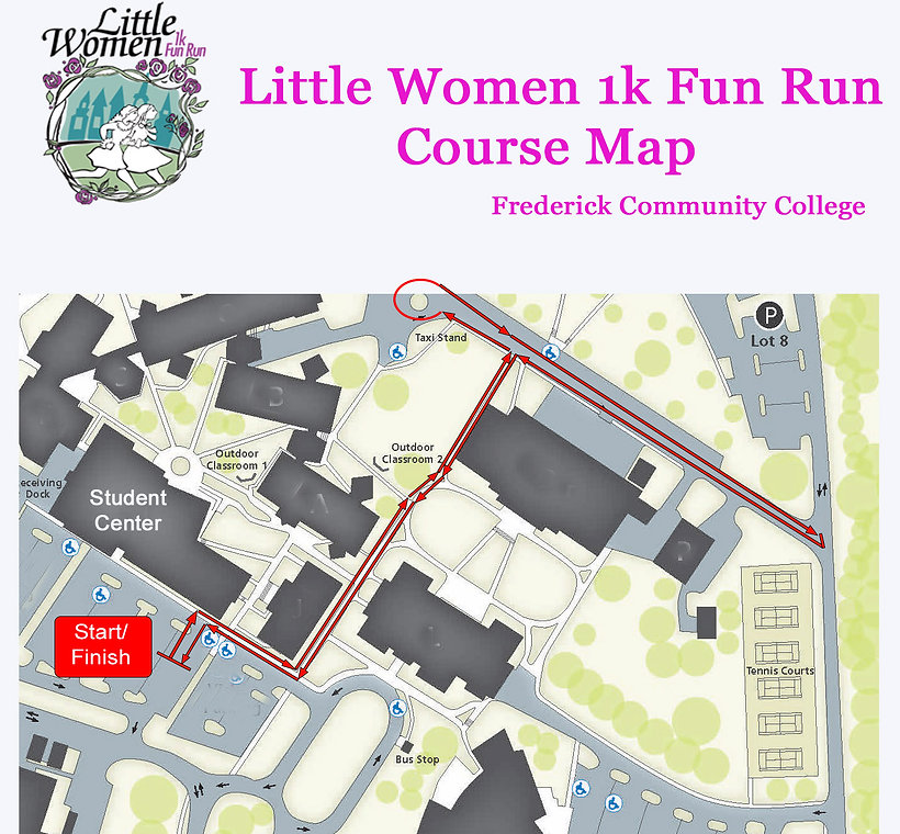 Little Women 1k Fun Run Course Map 2017