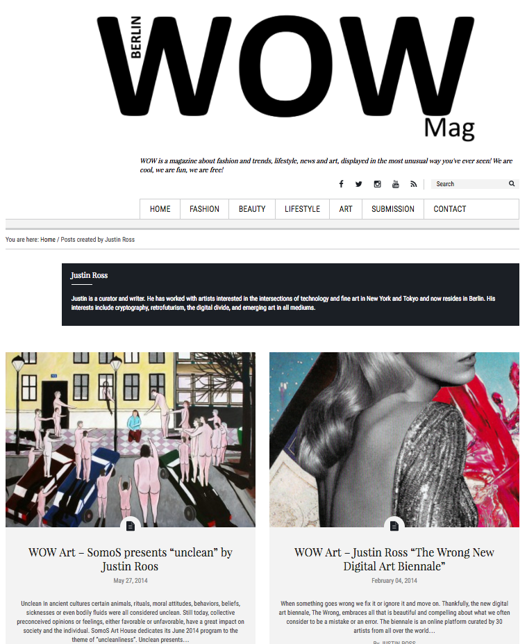Featured in WoW Berlin Magazine